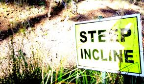 steep incline