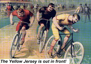 Cycling poster 1891 with caption